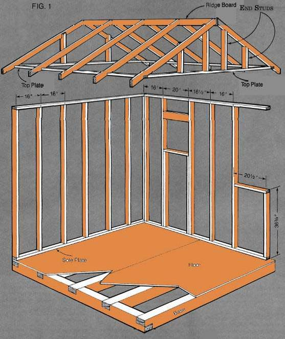 building plans storage sheds